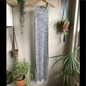 Theory - Intrella Space Dye Striped Maxi Dress